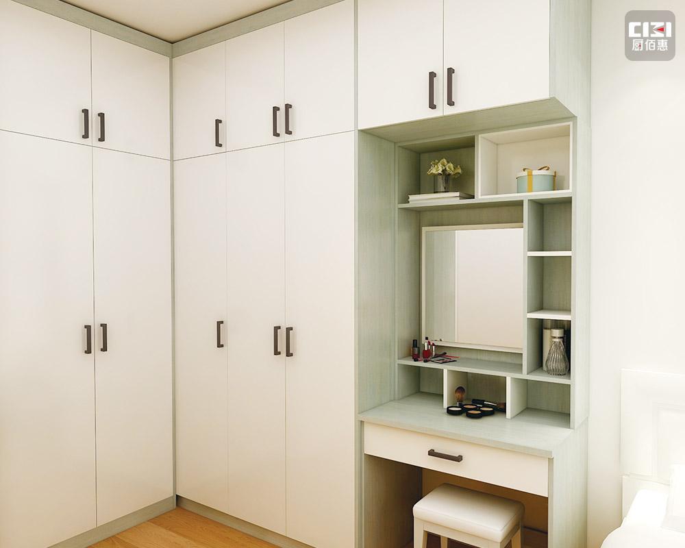 瓷白色不銹鋼衣柜-效果圖